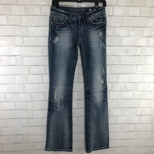Miss Me Light Wash Irene Bootcut Jeans, Size 27